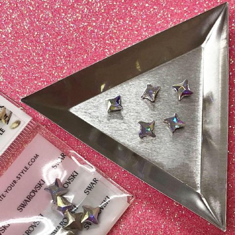 5pc Swarovski Twister Chatons, 6mm, Crystal AB